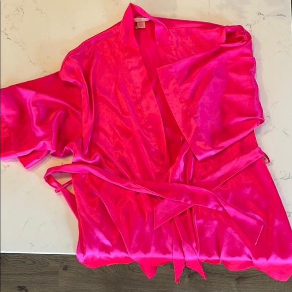 Hot Pink Victoria's Secret Satin Robe - S/M